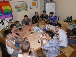 Treffen bei Hein & Fiete: Kennenlernen und Besprechung des Programms