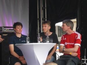 Andrei als Gastredner auf der Bühne