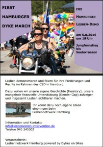 Postkarte hh dyke march 2016